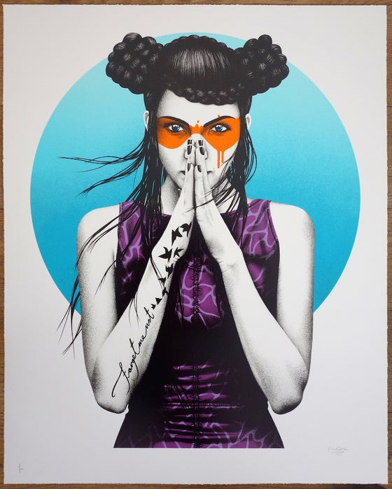 "Image of FINDAC - ""VERDISS"" - 13 COLOUR SCREENPRINT - LTD ED 100 - 90CM X 72CM"