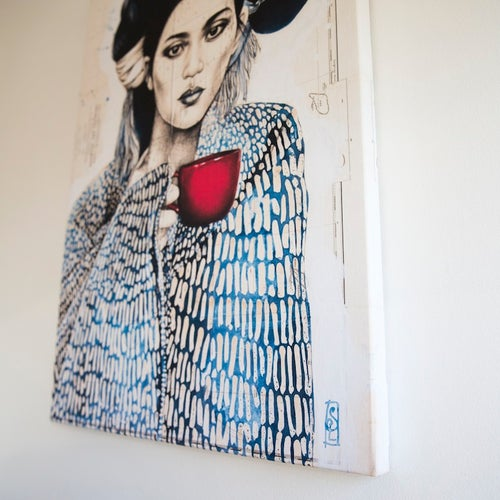 "Image of Canva Art Print - ""Tasse Rouge"""