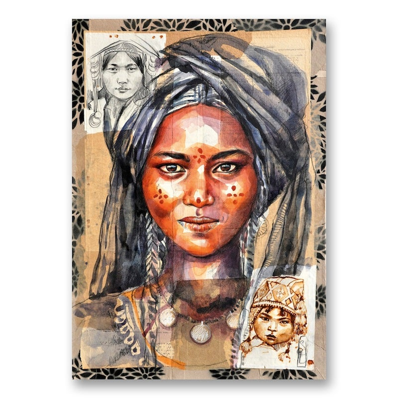 "Image of Canva Art Print - ""Le voile bleu"""