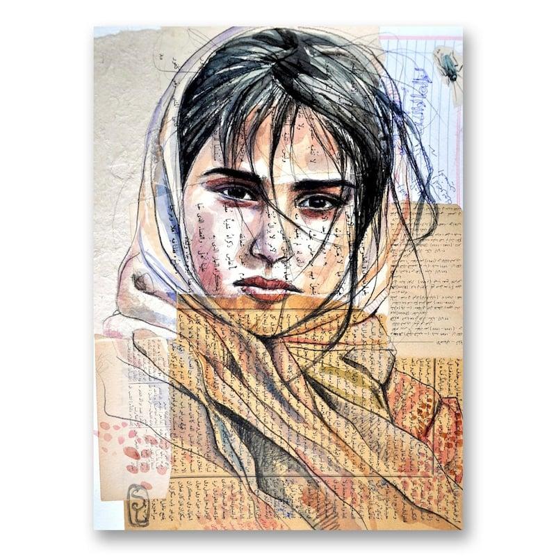 "Image of Canva Art Print - ""Fille de Haraz"""