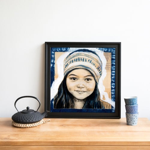 "Image of Paper Art Print - ""Zanny Bleue"""