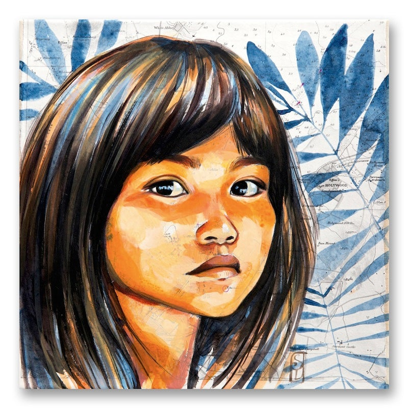 "Image of Paper Art Print - ""Enfant Kogi"""