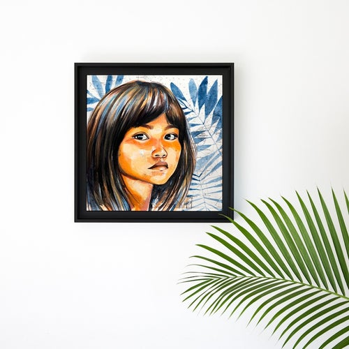 "Image of Paper Art Print - ""Enfant Kogi"""