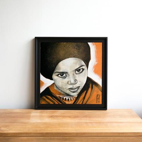 """Image of Paper Art Print - """"Saïda"""""""