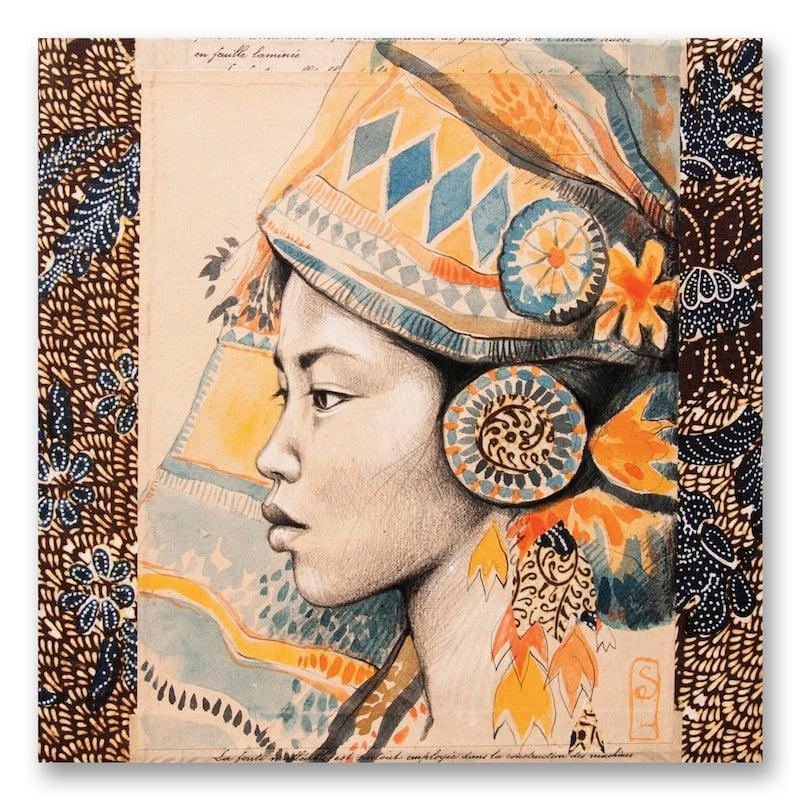 """Image of Paper Art Print - """"Reine Minangkabau"""""""