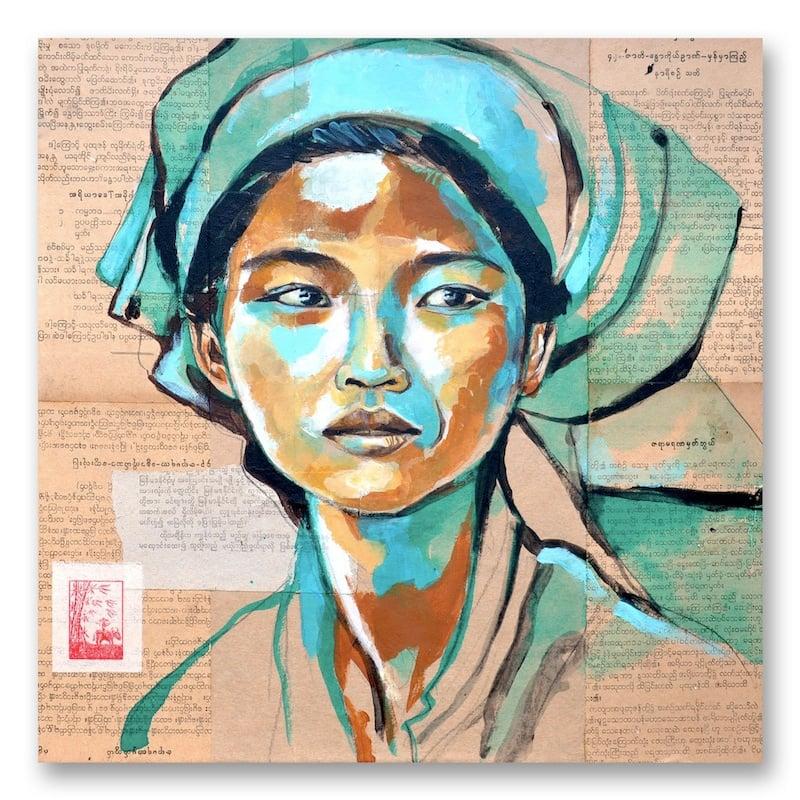"""Image of Paper Art Print - """"Marché de Nam Pan"""""""