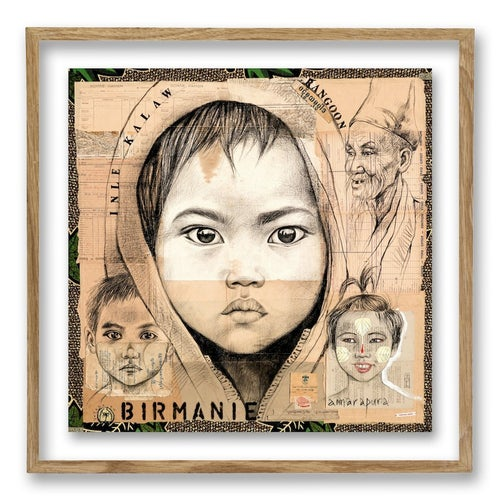 "Image of Paper Art Print - ""Kalaw 2"""