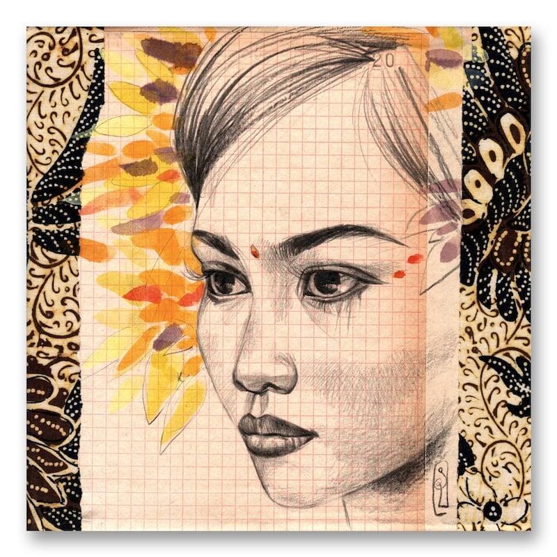 "Image of Paper Art Print - ""Danseuse Balinaise"""