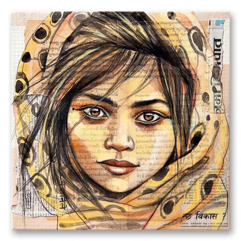 "Image of Paper Art Print - ""Jeune Gitane"""