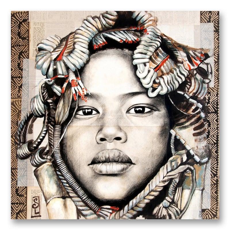 "Image of Paper Art Print - ""Femme Mursi"""
