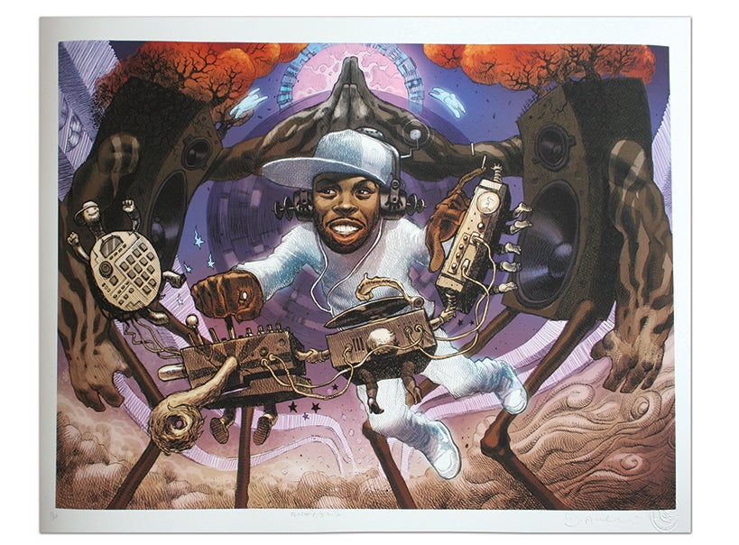 Image of J Dilla - Limited Edition Giclee Print