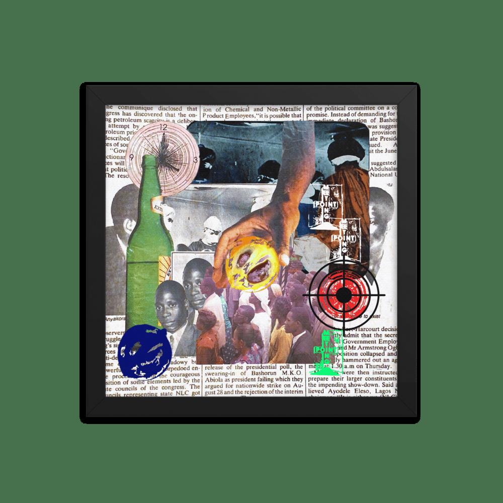 """Coup D'etat"" Framed Collage Print"