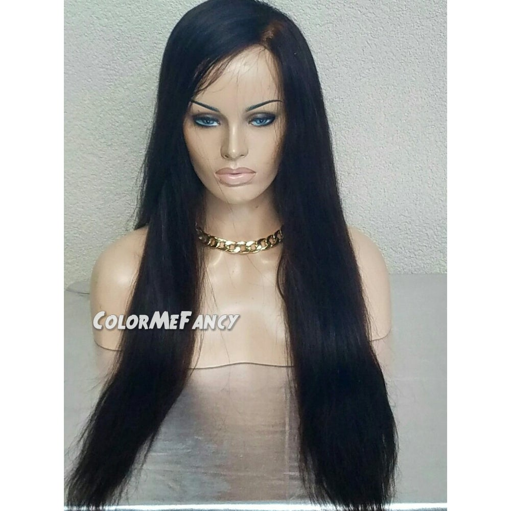 """Image of Virgin Brazilian Straight Front Lace Wig 24"""""""