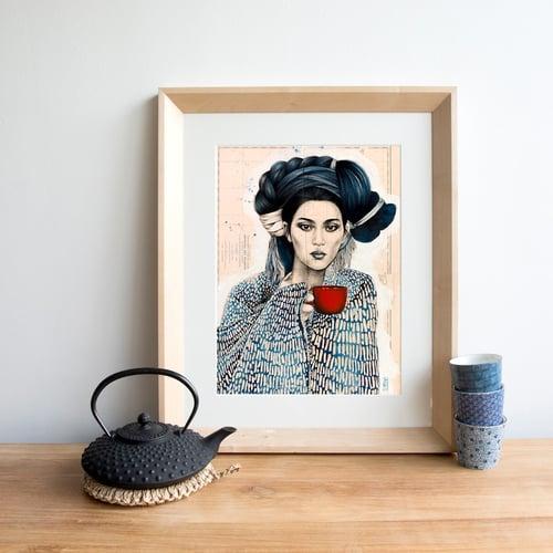 "Image of Paper Art Print - ""Tasse Rouge"""