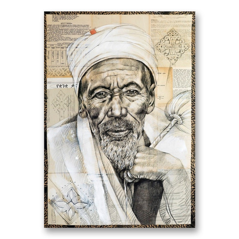 """Image of Paper Art Print - """"Pretre de Lalibela"""""""