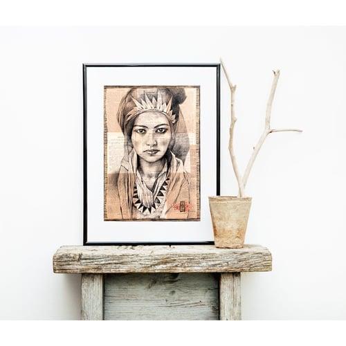 "Image of Paper Art Print - ""Femme Berbère"""