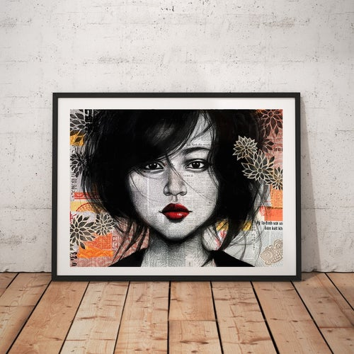 "Image of Paper Art Print - ""Soho"""