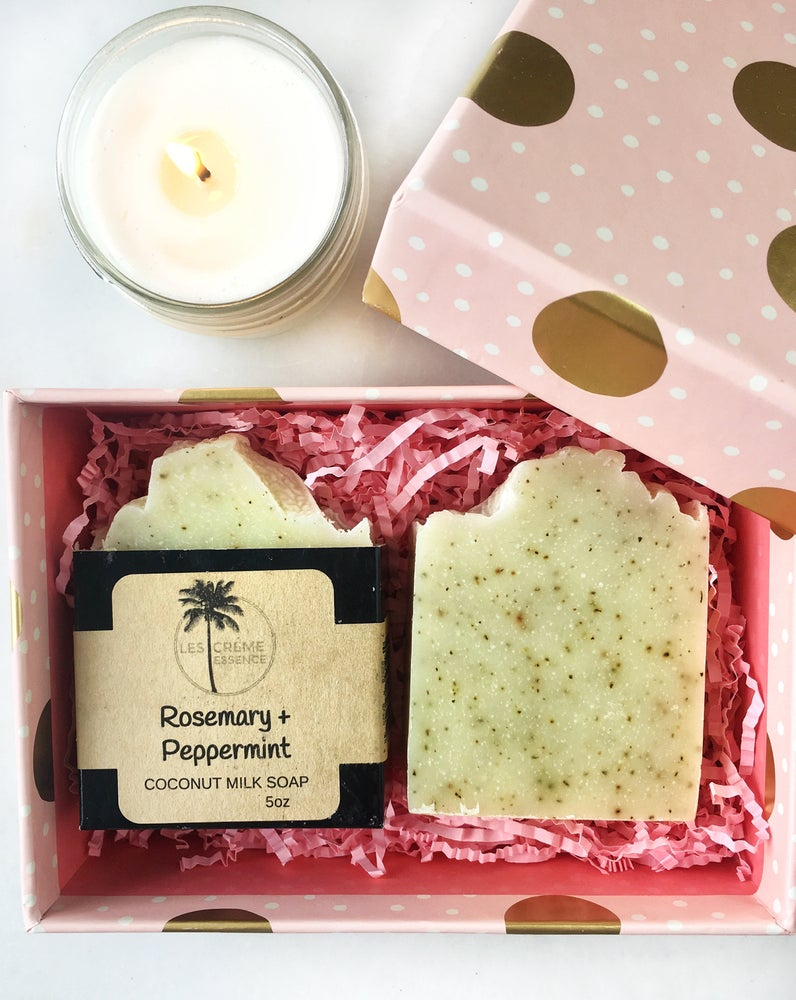 Image of Rosemary & Peppermint Coconut Milk Soap