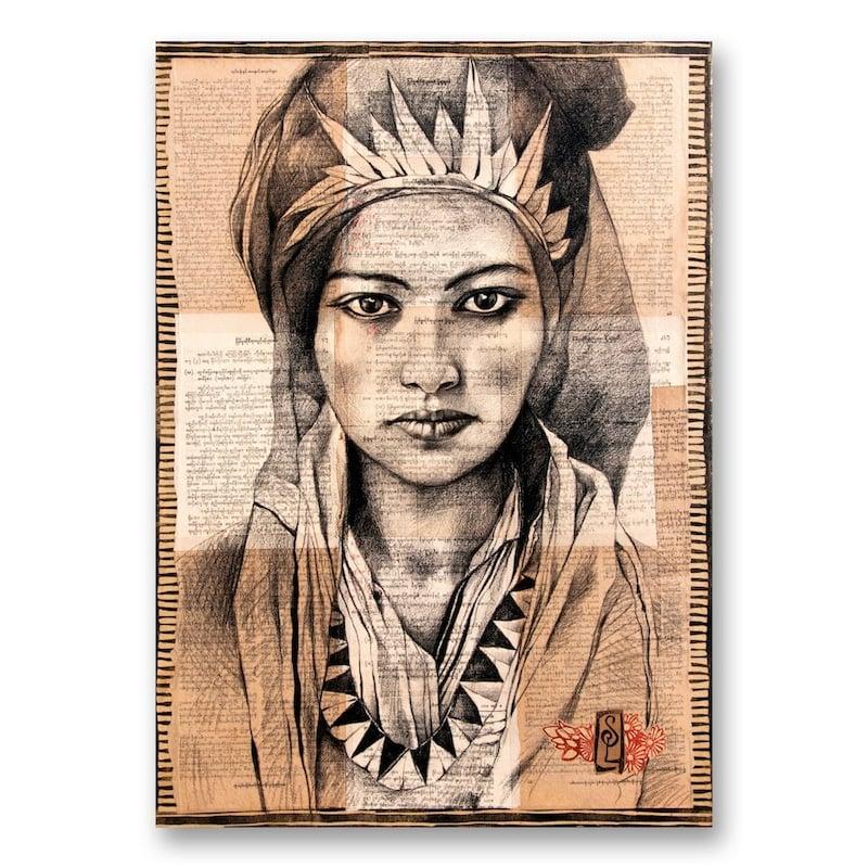 "Image of Canva Art Print - ""Femme Berbère"""