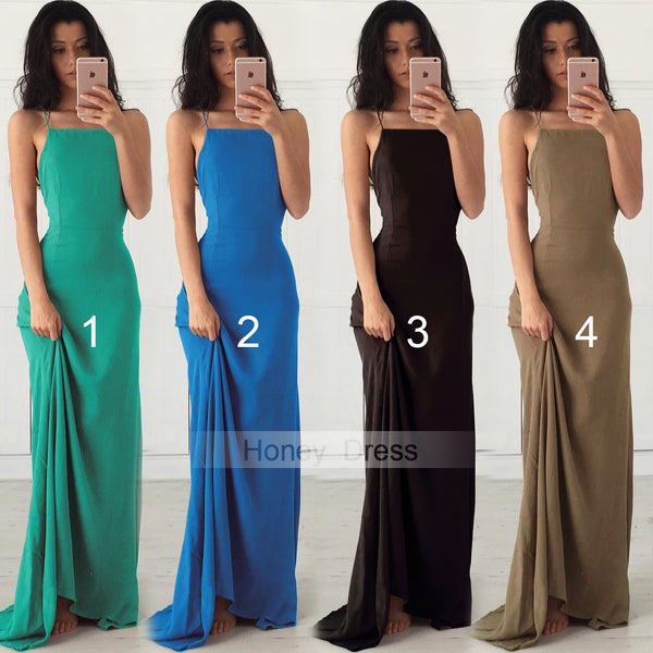 Image of Topaz Maxi Long Dress, Backless Long Party Dress, Sheath Formal Gown