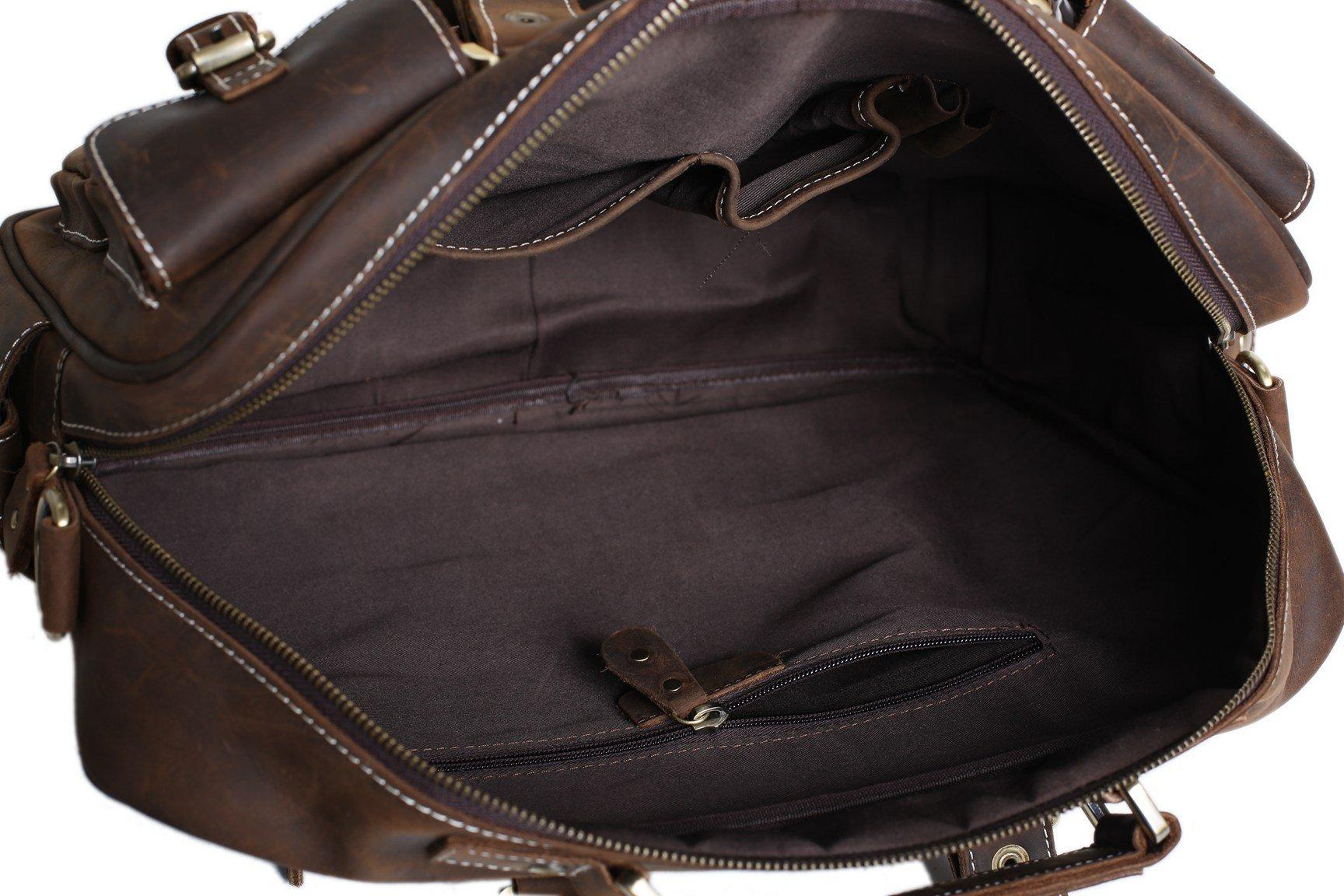 ea92b37e6dc58 Handcrafted Vintage Extra Large Genuine Leather Travel Bag Duffle Bag  Organizer Bag 7028
