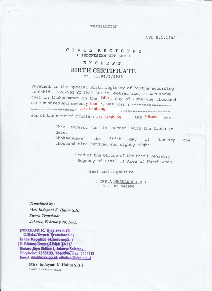 Image of Form No 5 Birth Certificate Download