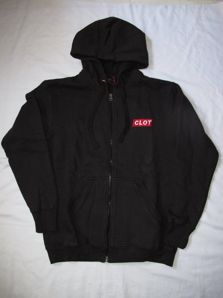 Image of CLOT - Box Logo Zip up hoodie (Black)