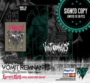 Image of VOMIT REMNANTS - Collecting The Remnants SIGNED Double Digipack