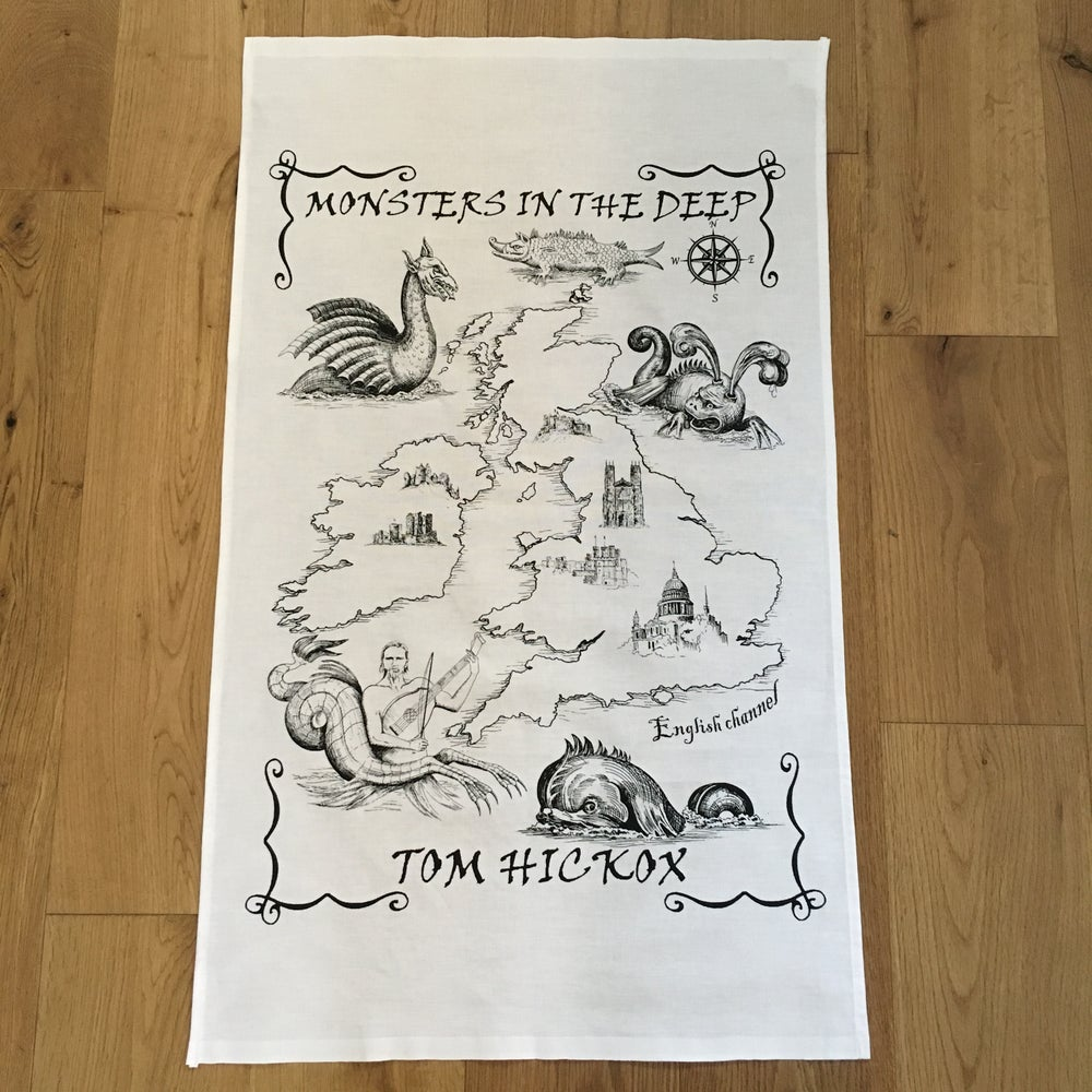 Image of Monsters In The Deep Tea Towel