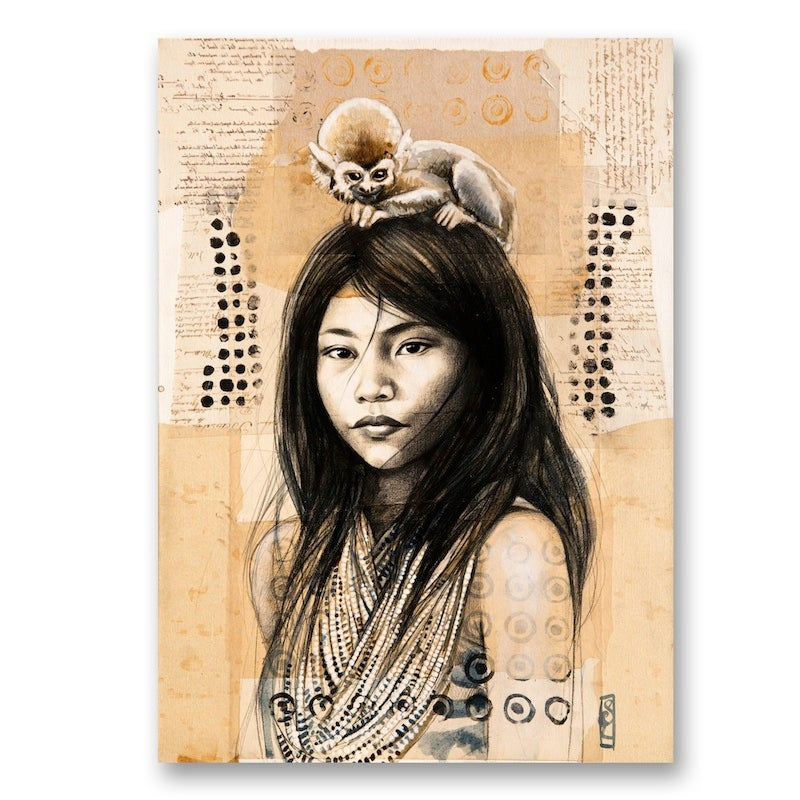 "Image of Canva Art Print - ""Chez les Kogis"""