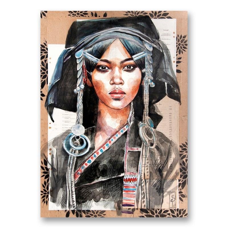 "Image of Canva Art Print - ""Femme Akha"""