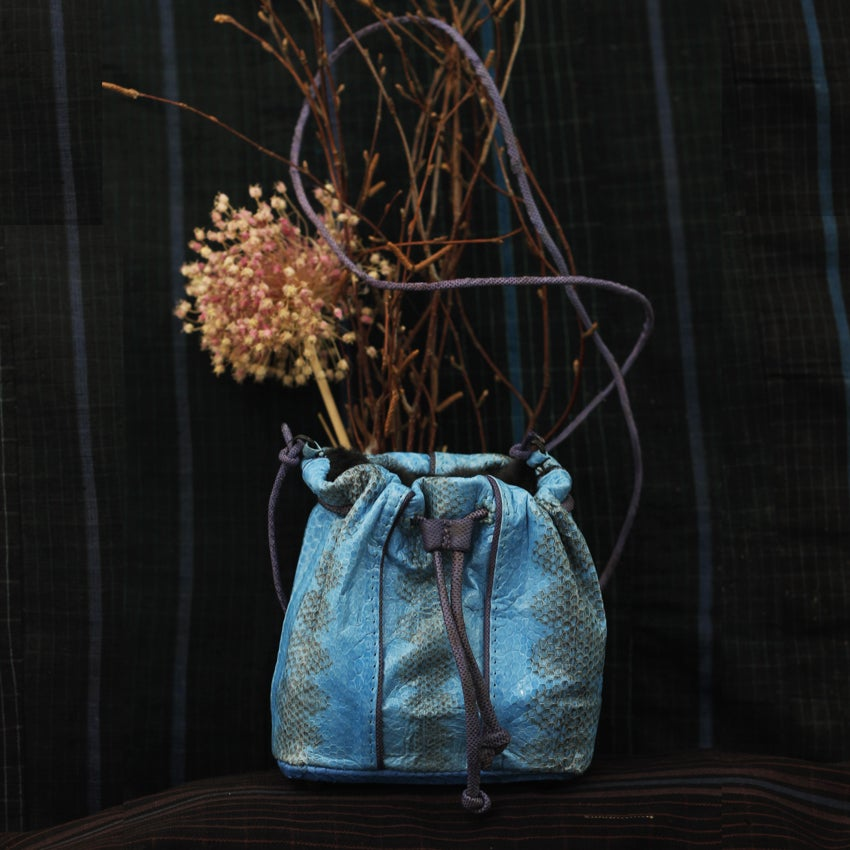 Image of Dariji electric blue bucket bag