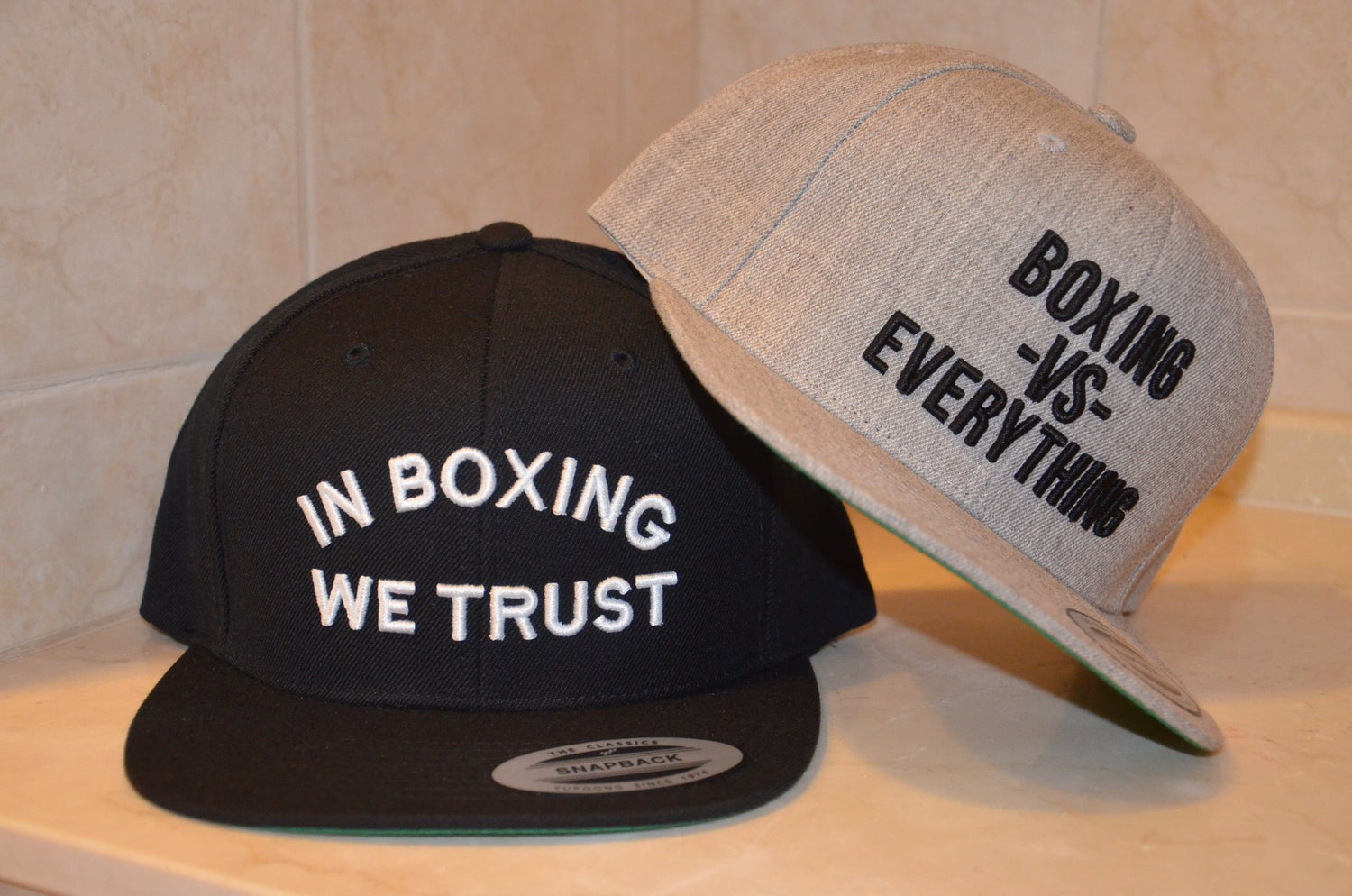 Image of Black Classic In Boxing We Trust SnapBacks