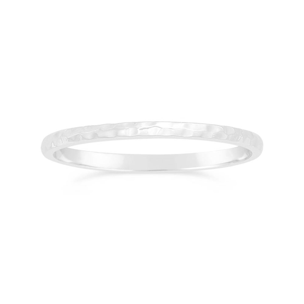Image of Hammered Stacking Ring - Silver