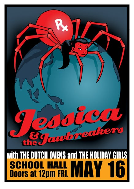 Image of Jessica and the Jawbreakers Gig Poster