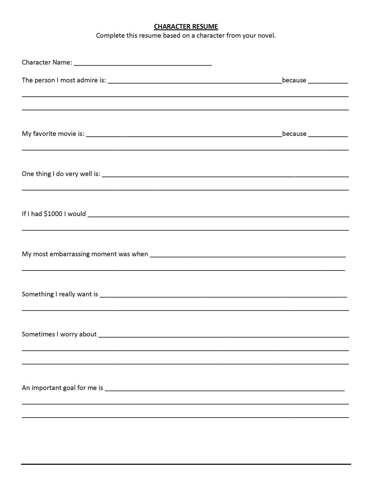 phaklizes  u2014 download a blank curriculum vitae