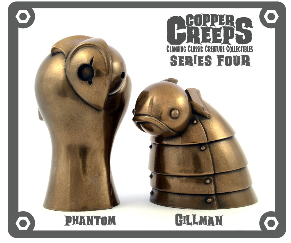 "Image of Copper Creeps Series 4 ""Metal"" Open Editions Resin Figures"