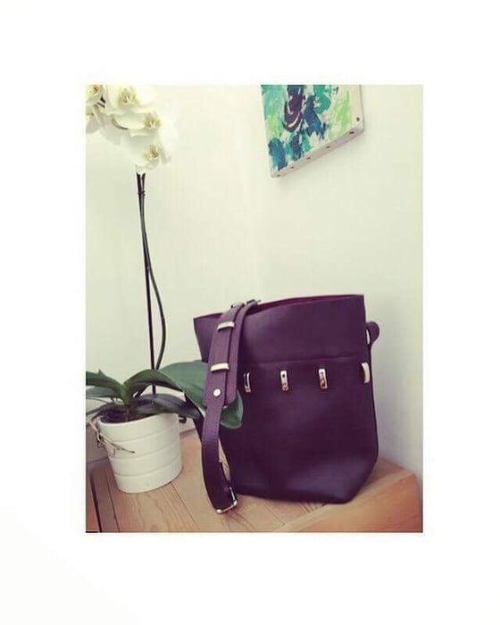 Image of ____philothea bag___ medium size/bordeaux color