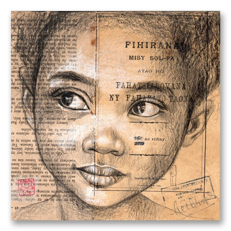 "Image of Canva Art Print - ""Niavy"""