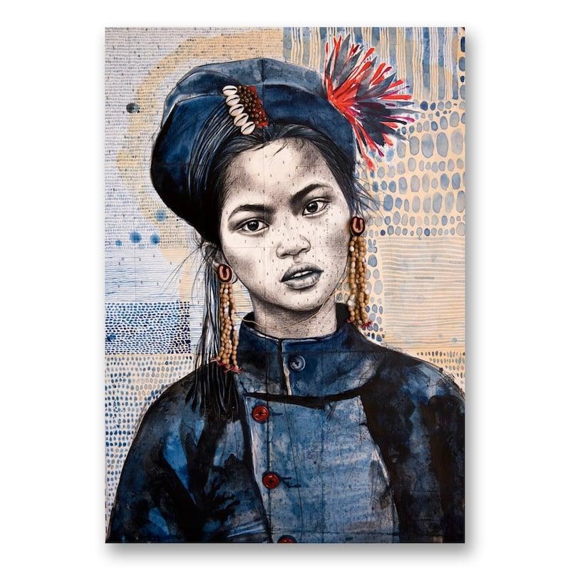 "Image of Canva Art Print - ""Chez les Ann 1"""