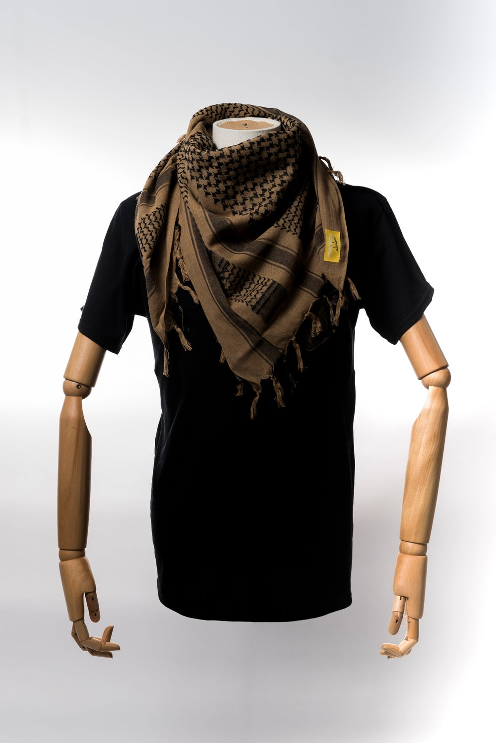 Image of Monkey Climber Shemagh Scarf I Sand & Black