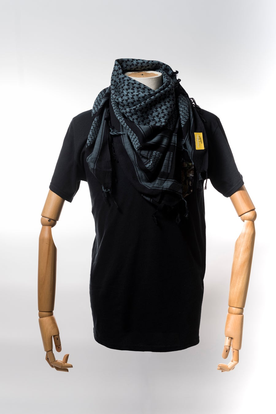 Image of Monkey Climber Shemagh Scarf I Black & Blue