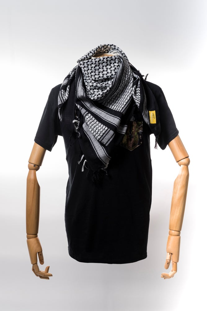 Image of Monkey Climber Shemagh Scarf I Black & White