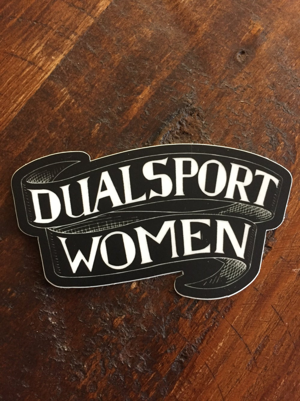 Image of Dualsport Women Sticker in black w/ free shipping