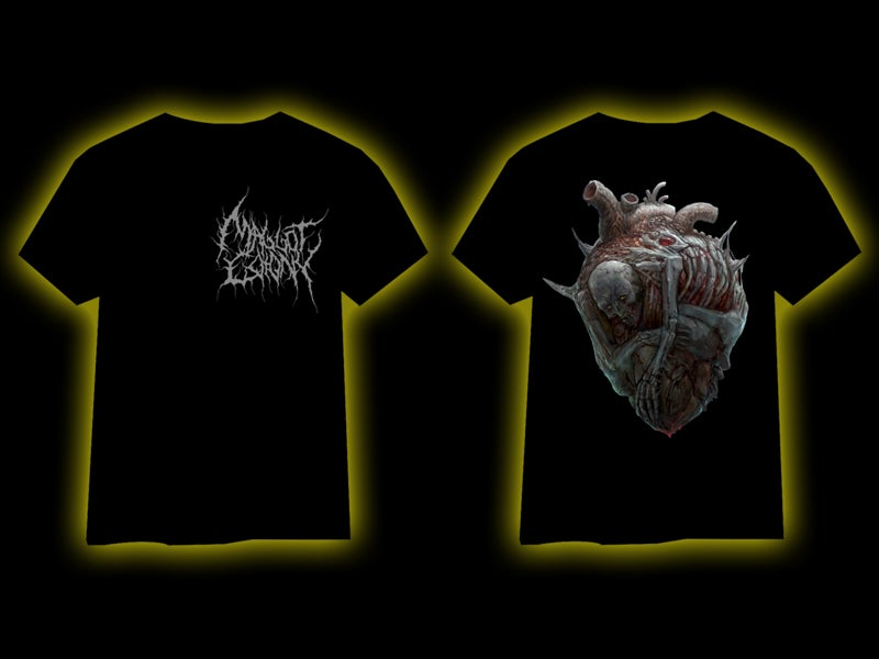 Image of MAGGOT COLONY - Heart T-Shirt