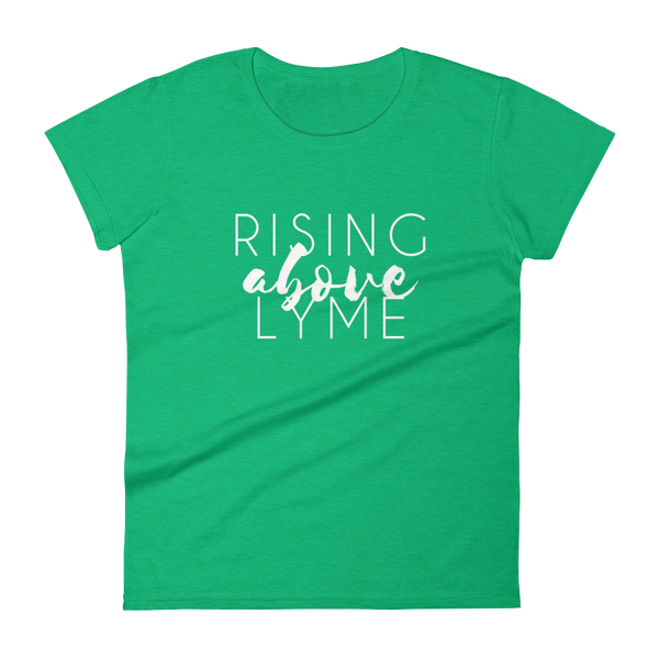 Image of Rising Above Lyme Heather Green Womens Tee