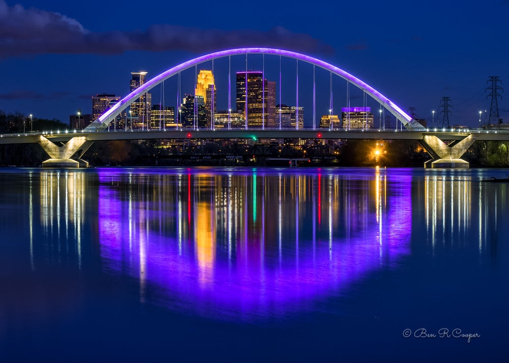 Image of Purple Lowry Bridge #3