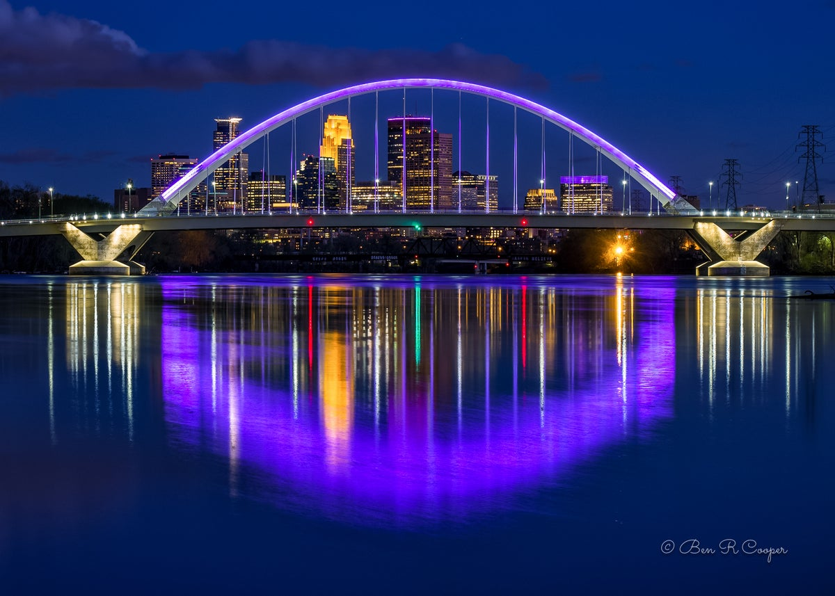 Purple Lowry Bridge 3 Ben R Cooper Photography