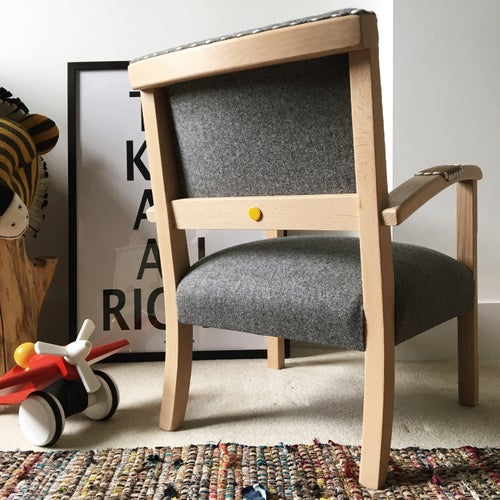 Image of The Kasper Chair - Charcoal & White