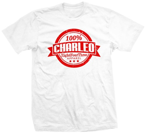 Image of NEW!!! The 100% Charleo Tee (CLICK FOR MORE COLORS!!!)